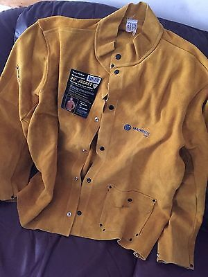 "Tillman Heavyweight 30"" Welding Jacket Cowhide Side Split Leather  - 2XL 3280-2x"
