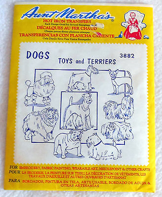 AUNT MARTHA'S #3882 Toys & Terriers EMBROIDERY master pack Transfer pattern