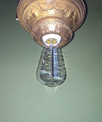 Beautiful Unique Flush Mount Bathroom Hallway Fixture Vintage Antique Wired