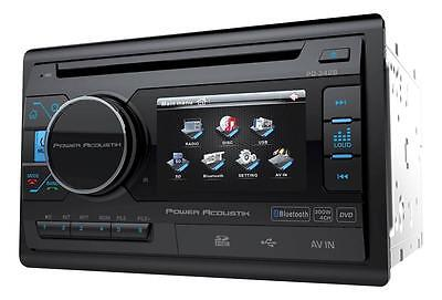 "Power Acoustik Double Din PD-342B CD/DVD/MP3 Player 3.4"" LCD Bluetooth USB AUX"