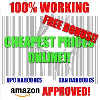 500 UPC Barcodes Numbers Bar Code EAN Amazon Approved Lifetime Guarantee!!