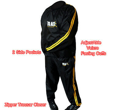 RAD™  Heavy Duty Sweat Suit Sauna Exercise Gym Suit Fitness Weight Loss Gold