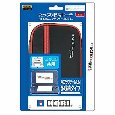 Hori Big Pouch Case Red for NEW Nintendo 3DS LL XL