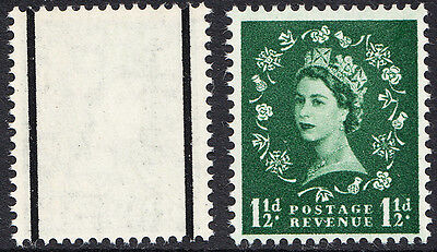GB QEII 1957 1½d Green Graphite Wilding Definitive 1st Issue SG563