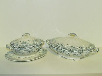 "VINTAGE JOHN MADDOCK & SON CHINA ""ALHAMBRA""PATTERN COVERED SERVING BOWL &TUREEN"