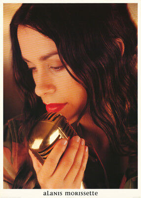 POSTER:MUSIC: ALANIS MORISSETTE WITH MICROPHONE - FREE SHIP ! #PR3040   RP66 i