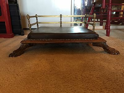 Beautiful Antique Carved Paw Footed Pet Bed