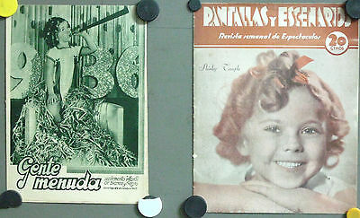 G5670 SHIRLEY TEMPLE collection of  2 vintage spanish magazines