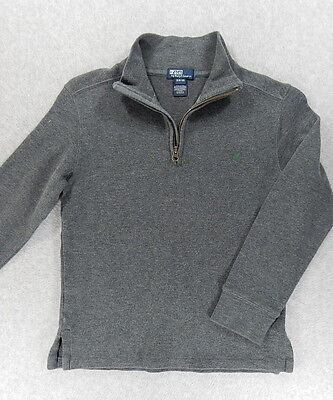 Polo Ralph Lauren 1/4 Zip Pullover Sweater (Youth Small 8/10) Gray