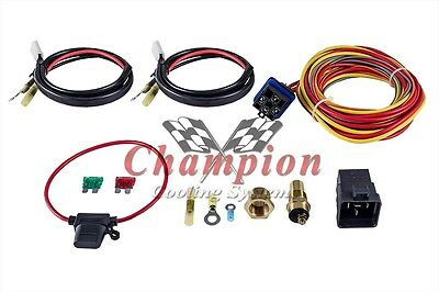 Champion Cooling 180 Degree 40amp Electric Fan Relay Kit DR Single or Dual Fans