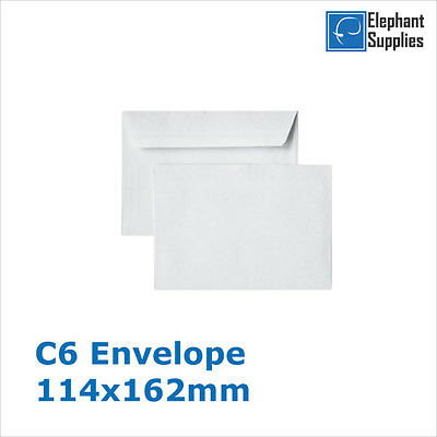 High Quality White Self Seal Envelopes PLAIN C6 90gsm Strong Paper