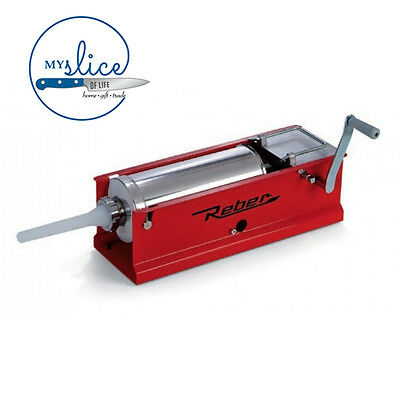Reber 5kg Capacity Sausage Filler / Salami Stuffer - Italian Made - Home Butcher