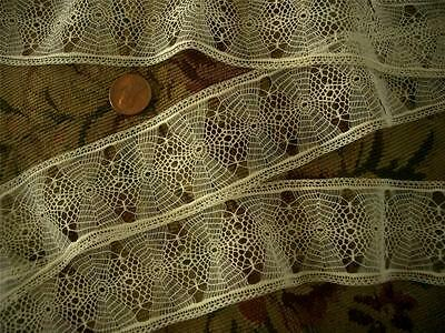 DAINTY 60in Antique Vtg TENERIFFE INSERTION LACE *DOLLS