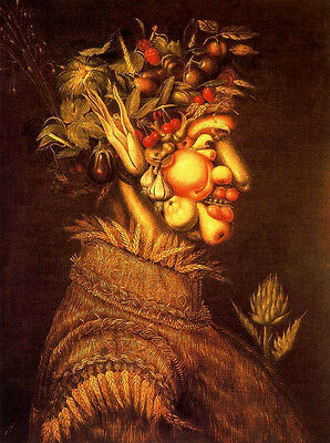 Handpainted Oil panting Giuseppe Arcimboldo - The Summer abstract male canvas