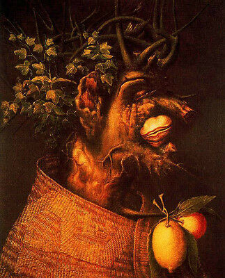 Charming art Oil panting Giuseppe Arcimboldo - The Winter abstract portrait 36""