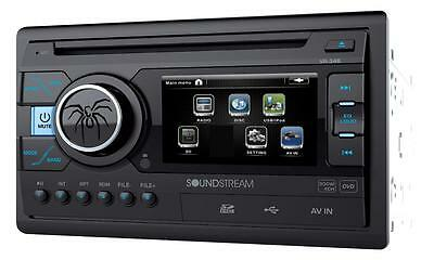 "Soundstream Double Din VR-346 DVD/CD/MP3 Player 3.4"" LCD Display USB SD New"