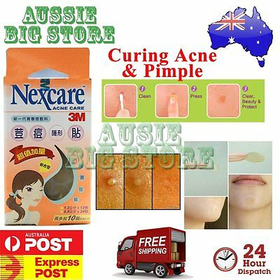 46 Pcs Nexcare 3M Acne Dressing Pimple Sticker Inflamed Zit Heal Patch Thin