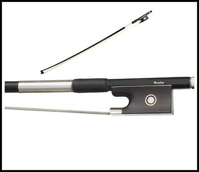 Carbon 4/4 Violin Bow Carbon Fiber / Graphite Stamped Mueller Full Size Bow