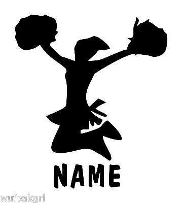 Cheerleader with Name Vinyl Sports Decal 8467