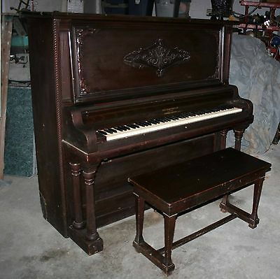 1910's Smith and Barnes Cabinet grand piano