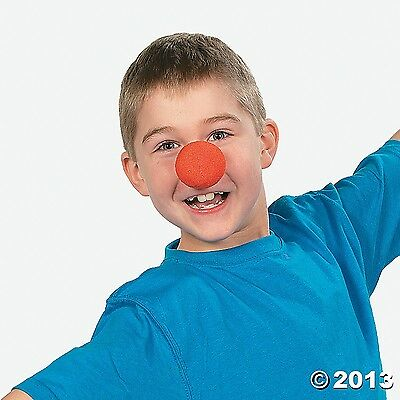 12 Bright RED Foam CLOWN NOSES Circus CARNIVAL themed Birthday PARTY Event