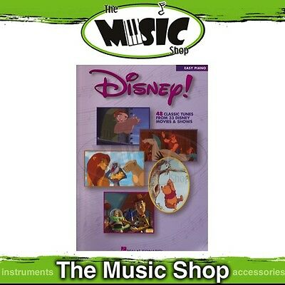 New Disney! Music Book for Easy Piano - Features 48 Classic Disney Tunes!