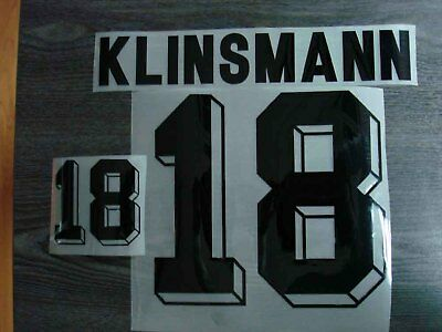 KLINSMANN #18 Germany Home World Cup 94 PU Name  Numbering