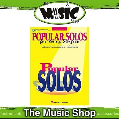 New Popular Solos for Young Singers Music Book with OLA - Vocal Songbook