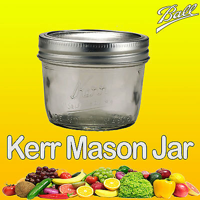 Ball Mason / Kerr Half Pint 240ml Wide Mouth Jar & Lid Candle Making Single Jar
