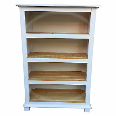Florida Handmade White Book Case With Antique Shelves (Assembled)