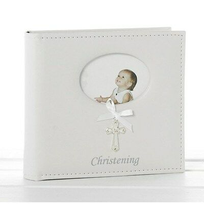 Cross Ribbon White Christening Album Unisex, Ideal Christening Gift  77790