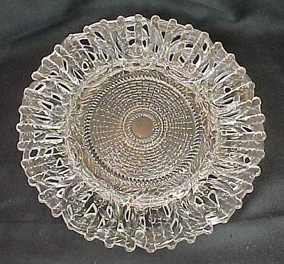 Findlay Glass Floral Fence Pattern Plate Dalzell Gilmore Leighton Ohio EAPG