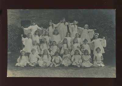 Hampshire CHRISTCHURCH YWCA group Angels Daisy House 1909 RP PPC Geo Moss