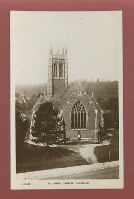 Surrey CATERHAM St John's Church c1910/20s RP PPC by Kingsway