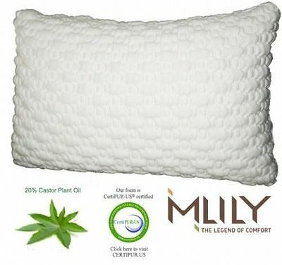 MLily Harmony Memory Foam Bamboo Pillow Hypoallergenic