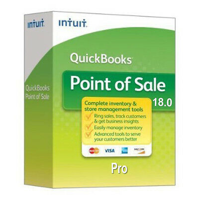 NEW! Intuit QuickBooks Point of Sale Pro V18 1 User Download 60-Day MBG