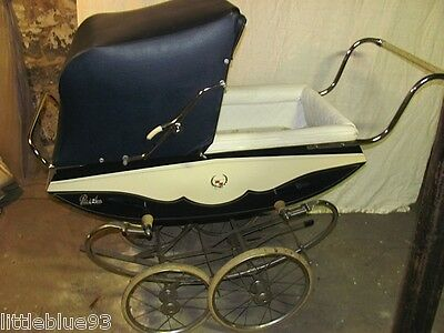 Antique 1960's BILT-RITE PARK AVE Baby Carriage Wood Finish Excellent Condition