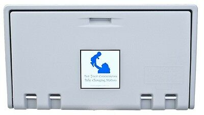 Baby Changing Station (Private Label/Allied Hand Dryer) GRAY Horiz AHD100-01