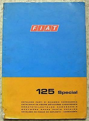 FIAT 125 SPECIAL Car Illustrated BODY Spare Parts Catalogue Dec 1968 #603.10.184