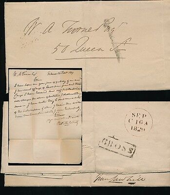 Scotland 1829 Local + Letter...cross Boxed