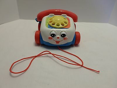 Fisher Price Chatter Phone Pull Along Toy Telephone 2000 Rolling Moving Eyes