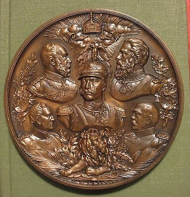 Bronze Medal - 25th Anniversary of Victory in the Franco- Prussian war. 102mm.