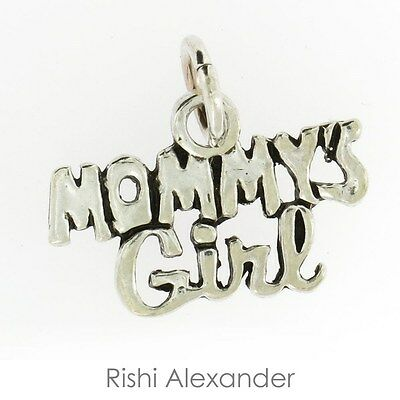 Mommys Girl sterling silver charm .925 x 1 Love charms CF4623