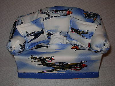 Couch Sofa Tissue Box Cover -  Airplanes