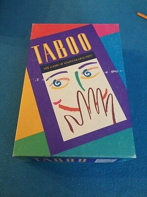 TABOO Unspeakable Game of Fun - Hasbro 2000 - Excellent Cond!  Complete!
