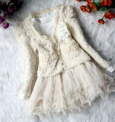 NWT 2-piece Beige Lace Outfit Infant Girls SZ 12-18 Mos Perfect For Easter