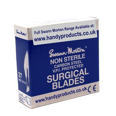 Swann-Morton No.27 Non-Sterile Surgical Blades (Pk of 100) Made In Sheffield UK