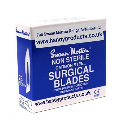 Swann-Morton No.23 Non-Sterile Surgical Blades (Pk of 100) Made In Sheffield UK