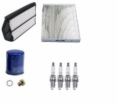 PREMIUM Acura MDX Honda Pilot Tune-Up Kit Air,Cabin,Oil NGK Platinum Spark Plugs