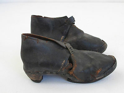 Great Pair of Antique Cobblers Folk Childs  Shoes